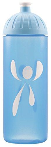 ISYbe Original Marken-Trink-Flasche für Kinder und Erwachsene, 700 ml, BPA-frei, Logos blau-Motiv, geeignet für Schule-Reisen-Sport & Outdoor, Auslaufsicher auch mit Kohlensäure, Spülmaschine-fest