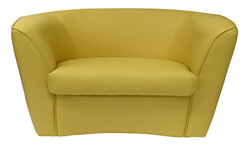 Divano divanetto 2 posti giallo ocra per soggiorno sala da ...