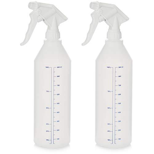 com-four® Botella de Spray 2X: pulverizador de Bomba Resistente a Productos químicos con Rosca 28/400 para Aceite Mineral, Aceite de calefacción, benzoilo, ácidos diluidos y álcalis