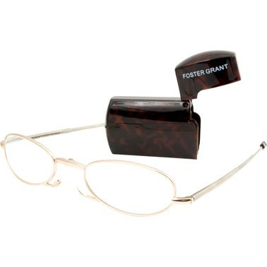 Foster Grant Folding Micro-Reader Gabriella Gold Color Reading Glasses+2.00 by Foster Grant
