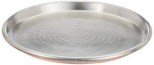 Vigor Blinky 94080-45 Teglia Rame Stagnato, Tonda, Bordo da 3 cm, Diametro 45 cm