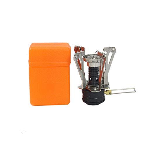 SZTUCCE Estufa de Gas para Acampar al Aire Libre 3000W Horno portátil BBQ para cocinar Picnic Split Splites Mini Camping Estufa de Gas Accesorios para Acampar (Color : Black)