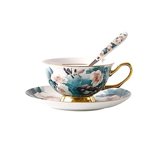XDYNJYNL Taza y platillo de la porcelana moderna y platillo, 8.11oz / 240ml resistente al calor café espresso late tazas de leche de la piña de taza de taza de taza de taza de cerámica con asa para el