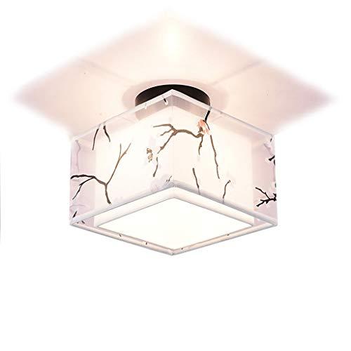 YANQING Duurzame plafondlampen moderne doek plafondlamp, eenvoudige plafondlamp voor balkon gang, plafondverlichting met doek lampenkap plafondlampen