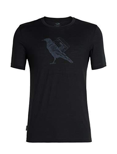 Icebreaker Herren Mens Tech Lite SS Crewe Ravencamp T-Shirt, Black, XL