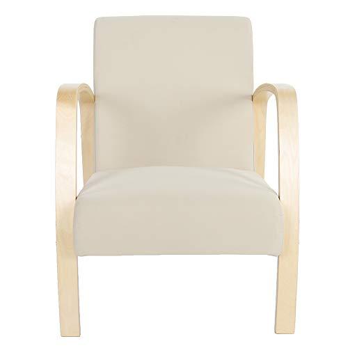 DSJSP 1 sillón de Madera Sillón Individual Vintage de Madera Sillón de salón Silla de salón Dormitorio Sillas de Ocio 23,62 * 26,38 * 30,7 Pulgadas