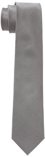 Seidensticker Krawatte 7cm breit einfarbig unifarben modern, Grau (31 uni silber), One Size
