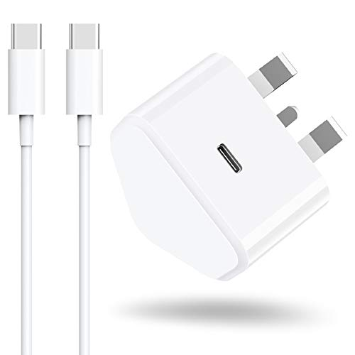 Niluoya 2M USB C Fast Charger, Charging Cable Cord with 18W PD Wall Adaptor Plug Adapter for iPad Pro 12.9 11 Gen 4/3/2/1 Note 10 2018/2020 Galaxy S20, Google Pixel 4 3 2 XL Pixel 3A XL 2XL 3XL 4XL
