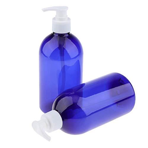 BOENTA Dosificador Jabon Baño Dispensador Jabon Baño Botella de Bomba de dispensador De la loción de la Bomba de la Maquillaje champú Limpiador Facial Blue