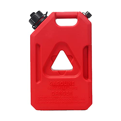 TYX Garrafa Gasolina plástico Portátil, Bidon diésel Gran Capacidad con Tubo guía Aceite, bidon Gasolina Transporte vehículos Motocicletas,Without Lock,3.8L