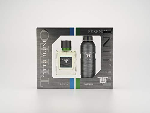 Titto Bluni - Essenza Estuche de Regalo para Hombre, Eau de Toilette 75 ml y Desodorante en Spray 200 ml
