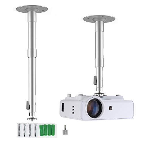 ERISAN Wall Mount & Ceiling Mount Bracket Stand, Adjustable Height Tilt/Swivel Mounting Device for Mini Projector, CCTV DVR Camera, Home Surveillance System - PCBM6 …