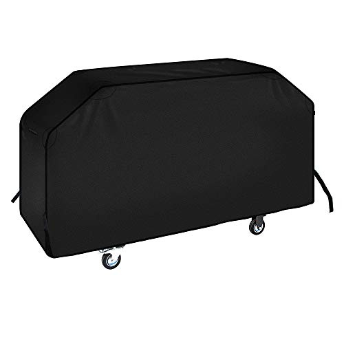 "iCOVER 36 inch Blackstone Griddle Cover, 600D Heavy Duty Waterproof Canvas Flat Top Gas Grill Cover for Blackstone 36"" Griddle Cooking Station Camp Chef 600 Barbecue Cover with Support Pole"