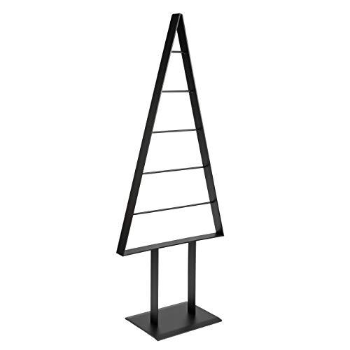 Tannenbaum Metall künstlich Weihnachtsbaum Edel Anthrazit Matt 98cm (Anthrazit Pearl)