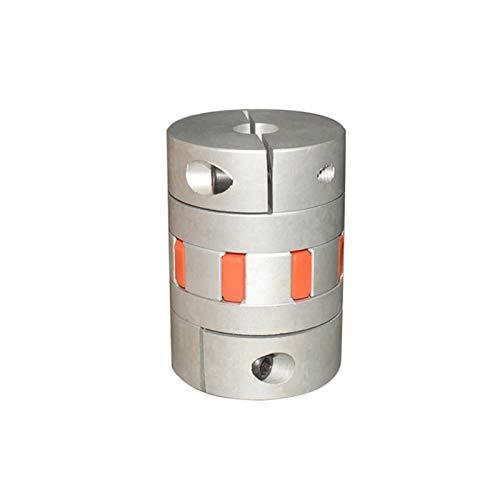 Acoplamiento Tornillo de bola de acoplamiento Diámetro de 55 mm de longitud 80 mm en forma de ciruelo sujeción de acoplamiento flexible de acoplamiento del eje del acoplador del codificador del paso d