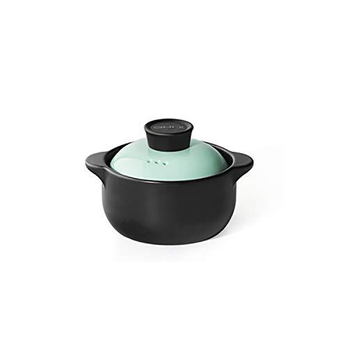 Heat Resistant Fine Porcelain Casserole/Clay Pot/Earthenware Pot (1000ml Blue)