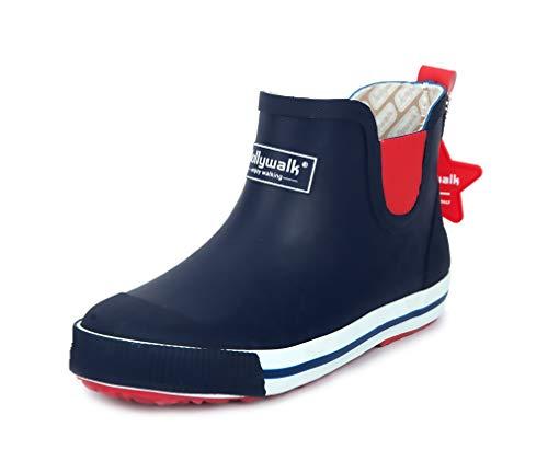 [ANGELCITY] レインシューズ キッズ レインブーツ 子供用 おしゃれ ショート ブーツ シンプル 歩きやすい 滑り止め かわいい ロング丈 防水 撥水 美脚 雨靴 長靴 梅雨対策 ラバーシューズ 大きいサイズ 滑りにくい 可愛い A519 (16