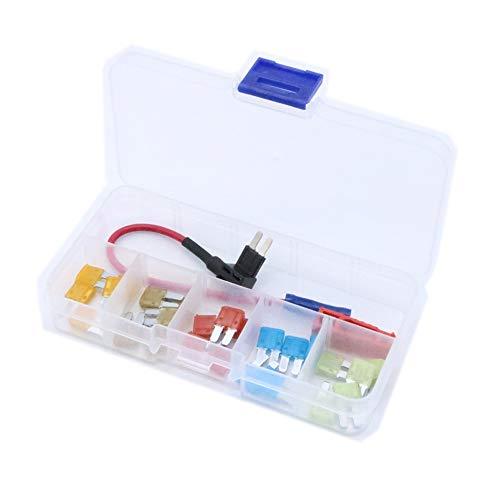 Accesorios para automóviles Fusible en línea de fusible en línea ATR Micro2 de Add-A-Circuit Fusibles de cuchillas 5A 7.5A 10A 15A 20A Portafusibles de fusibles y extractor de fusibles Micro2 Para dec