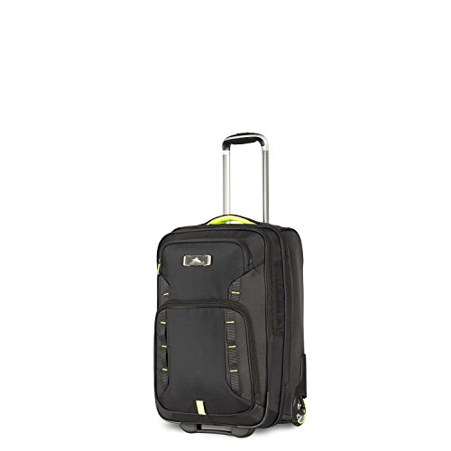 High Sierra AT8 Wheeled Carry-On with Pack-N-Go Backpack, Black/Zest
