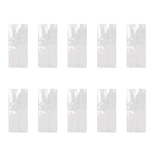 MOTZU 100 Pieces Clear Ice Pop/Candy Plastic Bags, 7.48x3.15in, Matte, Food Grade Hot Sealing Packing Containers, Disposable Popsicle Molds Bag, DIY Ice-Lolly Wrapping Party Favor Gift Bags