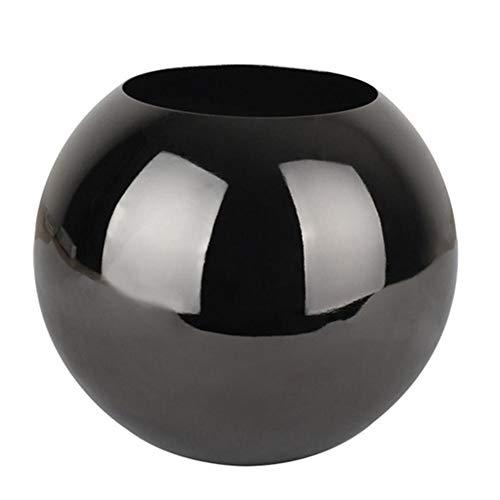 MSYOU BIGBOBA 1 Stück Vase aus Metall Vase rund aus Edelstahl Einfache Kugel schwarz