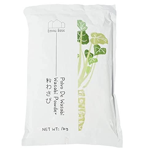 Emma Basic Wasabi Polvere 1 kg, 20% Wasabi, pungente, veloce da preparare