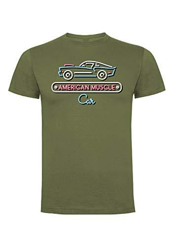 American Muscle Car T-shirt, gemaakt in Frankrijk (wit, grijs, zwart)