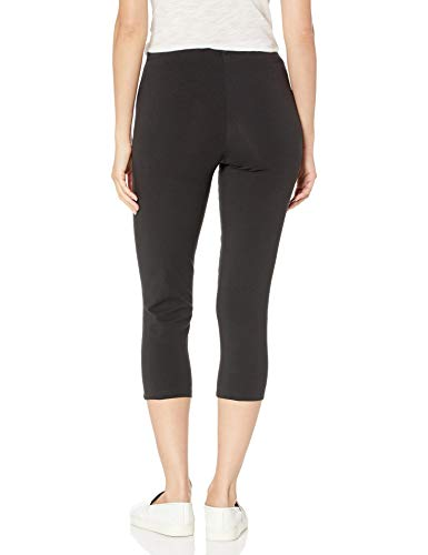 Hanes Women's Stretch Jersey Capri, Black, X-Large