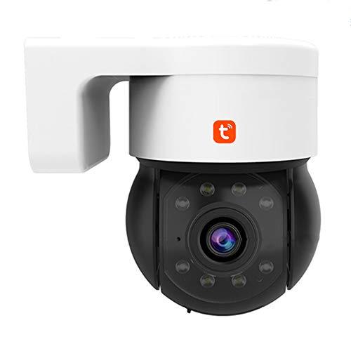 Tuya WIFI Cámara IP, cámara de video de seguridad PTZ de seguimiento automático impermeable al aire libre de audio P2P, vigilancia CCTV de visión nocturna 1080P,Camera + 32g card