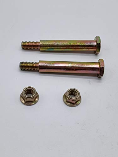 shiosheng 2PCS New Replacement Deck Wheel Bolts with Lock Nuts for Cub Cadet 137644 184219 193406 738-3056 938-3056 73930600