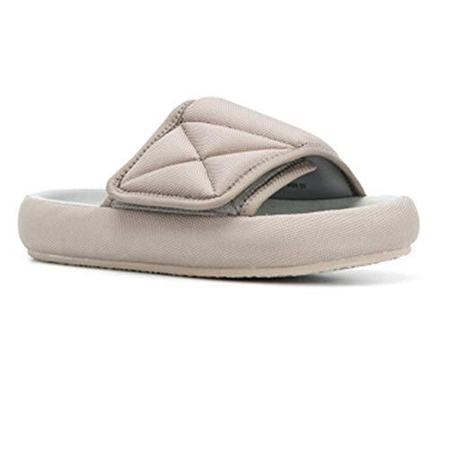Männer Hausschuhe Sandalen gucken, weiche Flache Sohle Anti Slid leichte Strandschuhe Wasserschuhe für Familie Outdoor entspannen