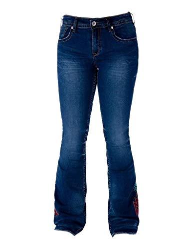 Cowgirl Tuff Western Jean Women Aztec Trouser 32 Long Dark JAZRKS