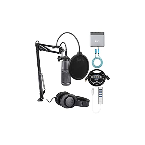Audio Technica AT2020USB+PK Vocal Microphone Pack for Streaming Bundle...