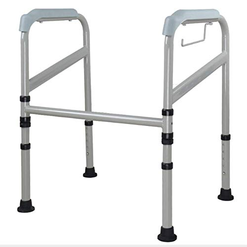 KFDQ Medizinischer Reha-Stuhl, Rollstuhl, Leichter, Zusammenklappbarer, Verstellbarer Gehhilfe-Fahrstuhl, Toilettenarmlehne, Mutterschafts-Hebebühne