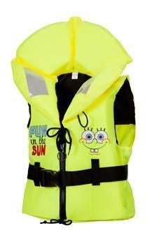 Kinder Feststoff-Rettungsweste ISO Freedom 100N Spongebob Schwimmweste von Marinepool 10-20kg