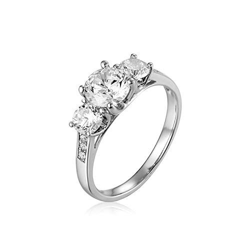 AueDsa Ring Silver 925 Sterling Silver Rings for Womens Flower Ring Size R 1/2