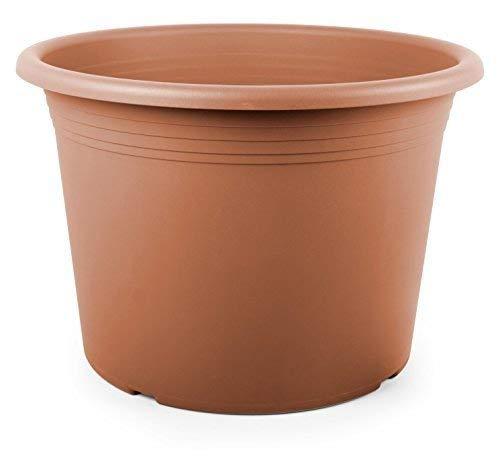 Tomaino Vaso per Piante in plastica Cilindro (Terracotta, 25)