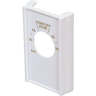 White Double Pole Line Volt Thermostat Cover For Old Style D22 - HVAC