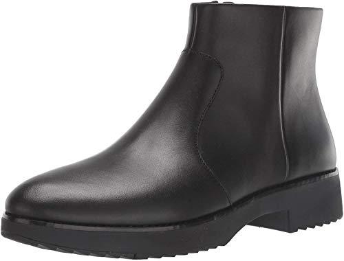 Fitflop Damen Maria Welted Ankle Bootie - Leather Kurzschaft Stiefel, Schwarz (All Black 090), 39 EU
