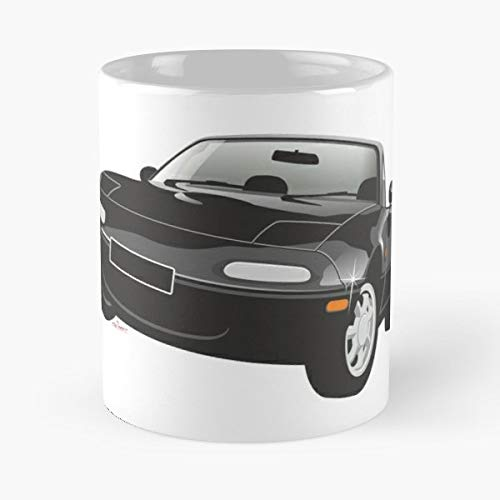 5TheWay Mx Mug Mazda Black Miata Best 11 oz Kaffeebecher - Nespresso Tassen Kaffee Motive