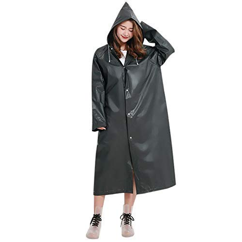 2 Pack   Reusable Waterproof Rain Poncho with Hood   Unisex Raincoat for Men and Women   Ideal for Hiking, Camping, Festivals, or any Outdoor Activities   Lightweight and Durable EVA Adult Ponchos