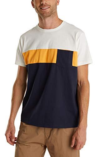 edc by ESPRIT Herren 050CC2K322 T-Shirt, 401/NAVY 2, L