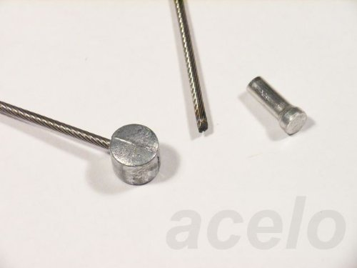 Bowdenzug / Bremszug - Edelstahl - z.B. für Fahrrad - mit Tonnennippel, mit 1 Schutzkappe - mehrere Längen (1.100 Millimeter)