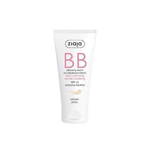Ziaja BB Creme für normale, trockene und empfindliche Haut Creme, hell, 50 ml