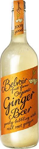 Belvoir - Ginger Beer Bio - Boisson Pétillante au Gingembre Frais Bio - Boisson Artisanale à l'Eau de Source, 100% Naturelle - Sans Édulcorants, Conservateurs ni Colorants - Bouteille en Verre 750 ml