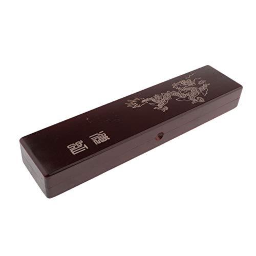 IPOTCH Multiusage Boite de Rangement en Bois Motif Dragon Boîte de Bijou Organiseurs Distributeurs pour Bureau - 52x9x5cm