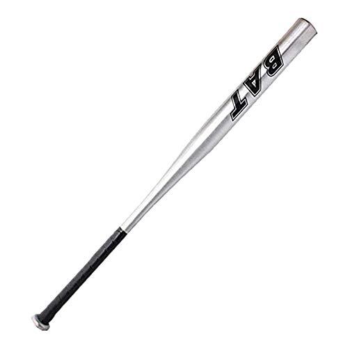 BigTree Baseballschläger aus Aluminium mit rutschfestem Griff Selbstverteidigung Schläger 34 Zoll / 86,4 cm, Silber