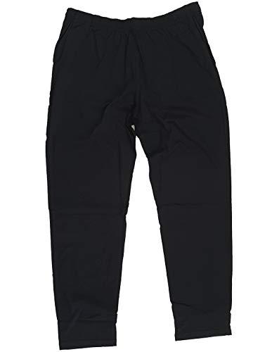taglie forti Uomo Pantalone Cotone Leggero Oversize Calzone Tuta Donna (Taglia 4XL, Nero)