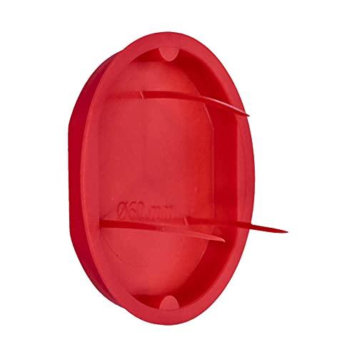 Voxura Signaldeckel rot Ø 60mm für Unterputz-Gerätedose Unterputzdose Schalterdose Verteilerdose rund UP 50 Stück