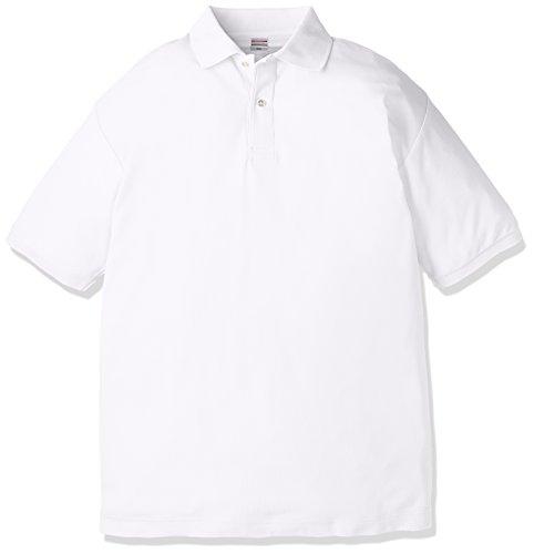 (ユナイテッドアスレ)UnitedAthle 5.3オンス ドライカノコ ユーティリティー ポロシャツ 505001 [メンズ] 001 ホワイト L